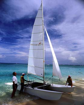 Cayman Island Sailboat on 7 Mile Beach
